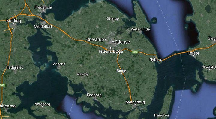 Odense, Svendborg, Nyborg, Middelfart og Fyn