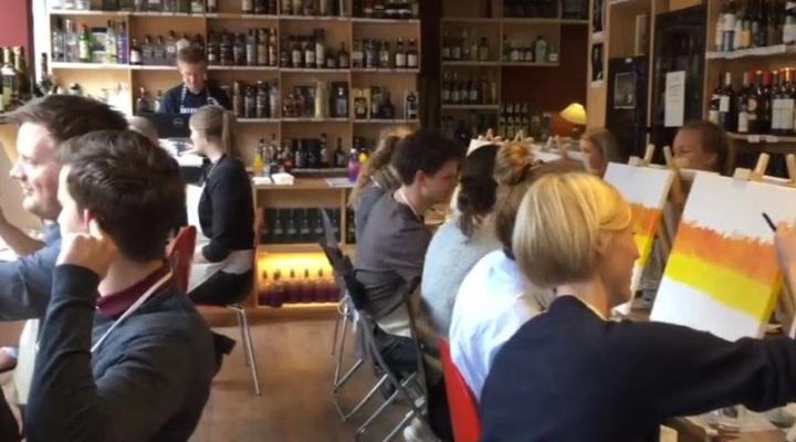 Paint'n wine mal og drik i København