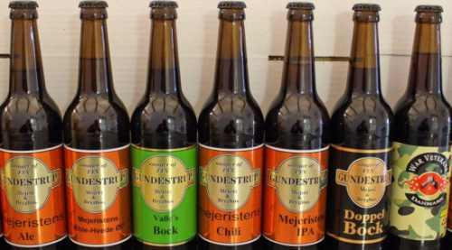 Gundstrup Mejeri og bryggeri ølsmagning