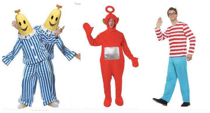 polterabend-mænd-udklædning-kostume-bananeripyjamas-find-holger-teletubbies