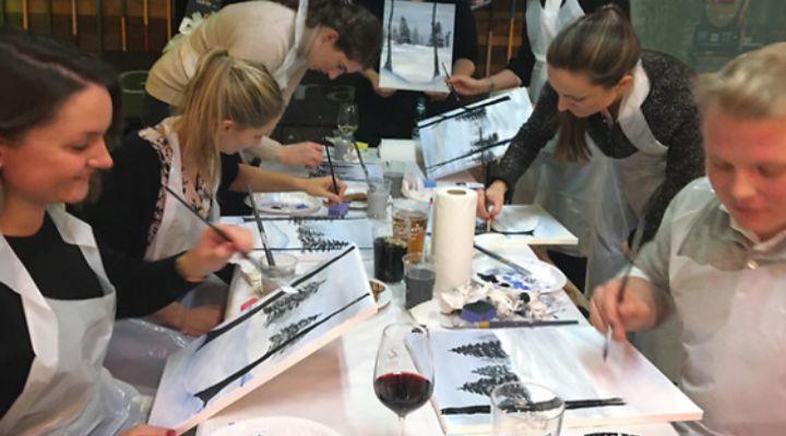 maleri-og-mad-ARTNSIPS-københavn-oplevelse-gavekort-2-personer